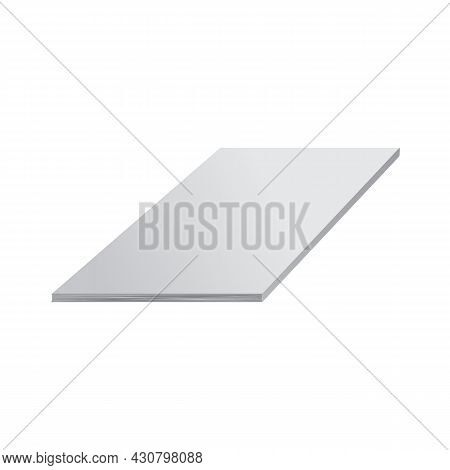 Blank Empty Magazine Journal Or Book Cover With 3d Perspective View. Book Or Journal Mockup Vector I