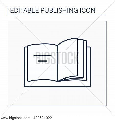 Inside Front Cover Line Icon. Reverse Side Of Book Or Magazine Cover.publishing Concept. Isolated Ve