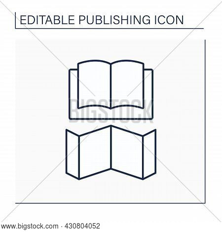 Jacket Line Icon. Dust Jacket. Detachable Outer Cover.publishing Concept. Isolated Vector Illustrati