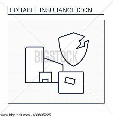 Product Liability Line Icon. Legal Liability Manufacturer Or Trader Incurs For Producing Or Selling