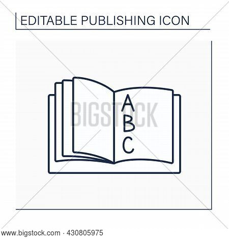 Index Line Icon. Alphabetical List Of Names, Subjects In Books Or Magazines. . Index Reference To Pa