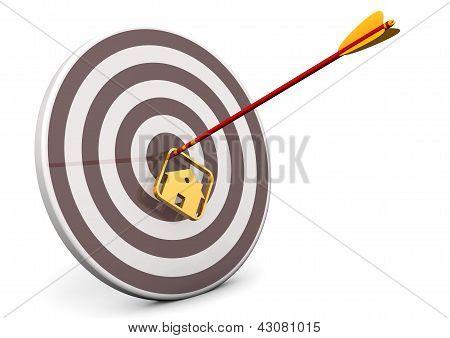 House Bullseye Target