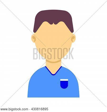 Avatar Man Person Face Icon Vector Illustration Head Character. Cartoon Human Portrait Profile Avata
