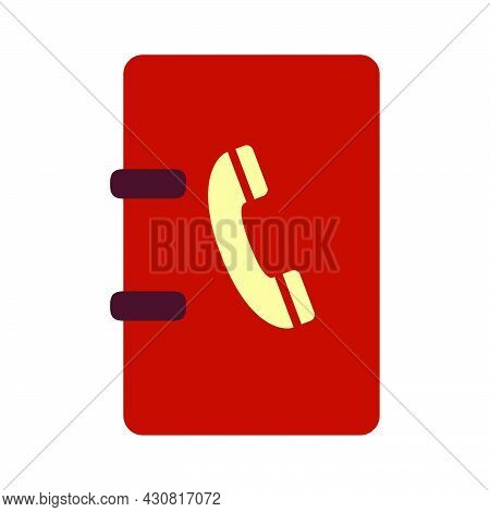 Phone Vector Symbol Call Icon Communication. Connection Telephone Sign Business Contact Flat Illustr