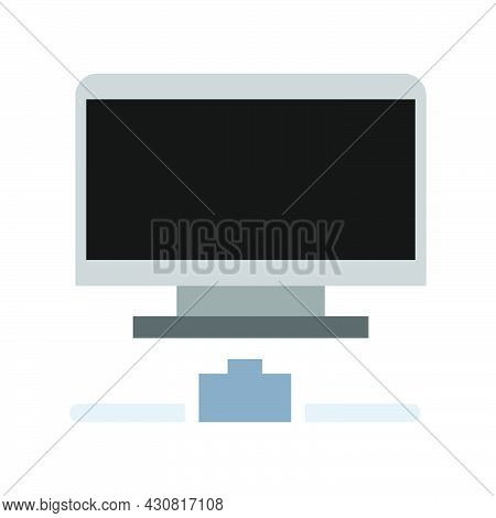 Computer Icon Technology Vector Digital Illustration Display Electronic Equipment Pc. Business Offic