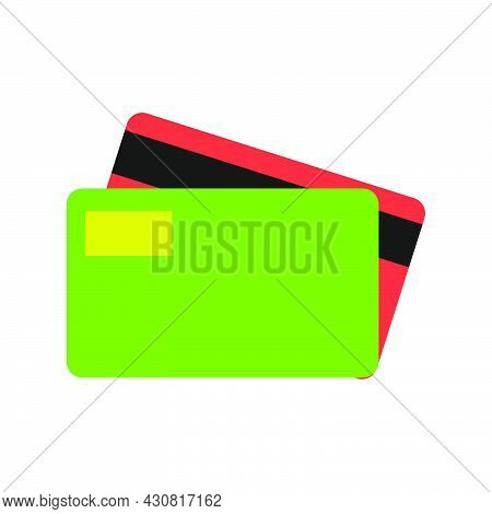Credit Card Finance Business Illustration Vector Icon Plastic Currency Bank. Money Shopping Credit C