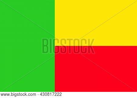 Flag Benin Vector Illustration Symbol National Country Icon. Freedom Nation Flag Benin Independence