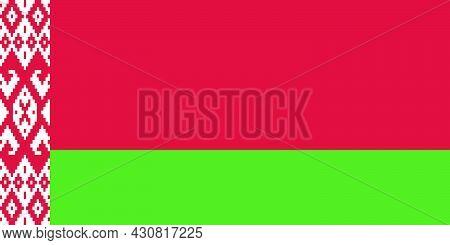 Flag Belarus Vector Illustration Symbol National Country Icon. Freedom Nation Flag Belarus Independe