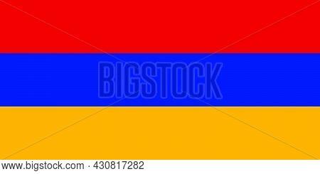Flag Armenia Vector Illustration Symbol National Country Icon. Freedom Nation Flag Armenia Independe