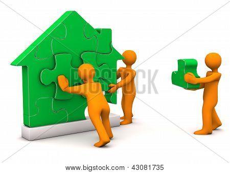 Puzzle House Manikin