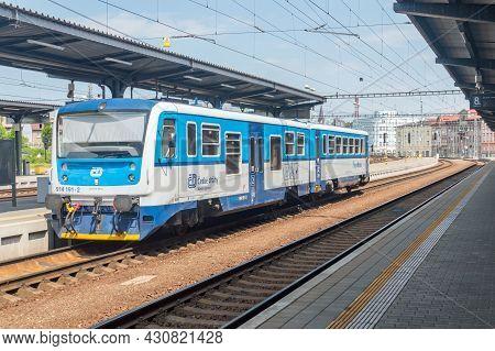 Cesky Tesin, Czech Republic - June 5, 2021: Train Of Ceske Drahy At Cesky Tesin (czeski Cieszyn) Rai