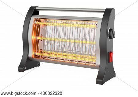 Halogen Or Infrared Heater, 3d Rendering Isolated On White Background