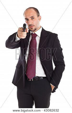 Armed Businessman
