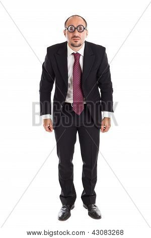 Poor Sight Standing Businessman