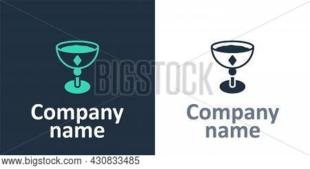 Logotype Medieval Goblet Icon Isolated On White Background. Logo Design Template Element. Vector