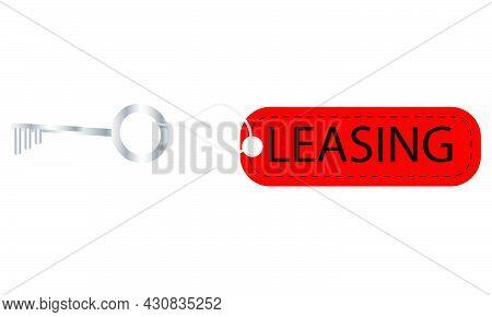 Key To World Leasing Day, Vector Art Illustration.
