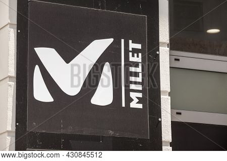 Zagreb, Croatia - June 18, 2021: Millet Logo On Their Local Retailer In Zagreb. Part Of Calida, Mill