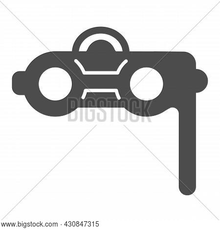 Theater Binoculars, Opera Glasses Solid Icon, Theater Concept, Concert Binocular Vector Sign On Whit