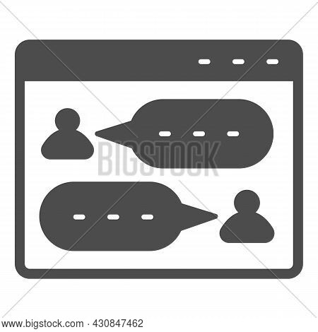 Messenger, Dialog Window, User Chat, Texting Solid Icon, Social Network Concept, Sms Vector Sign On