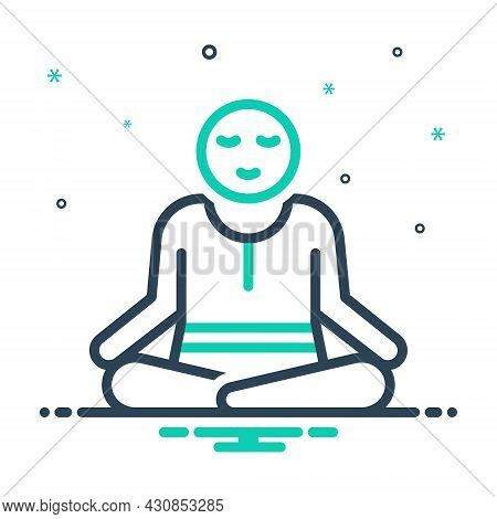 Mix Icon For Peace Exercise Working-out Yoga Pose Meditate Health Fitness Aerobics
