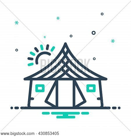 Mix Icon For Tent Awning Canopy Tabernacle Lodgement Pavilion Camp Marquee