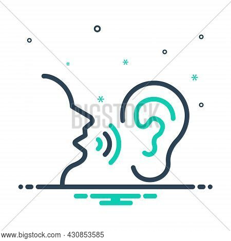 Mix Icon For Secret Talk Wave Hearing Clandestine Confidential Ulterior Esoteric Undisclosed Hush-hu