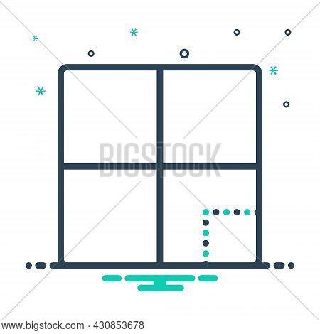 Mix Icon For Section Block Part Piece Segment Fragment Component Division Portion