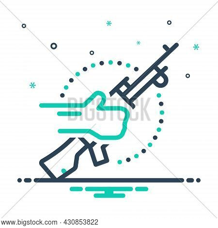 Mix Icon For Terrorist Bomber Guerrilla Radical Rebel Thug Incendiary Revolutionary Gun