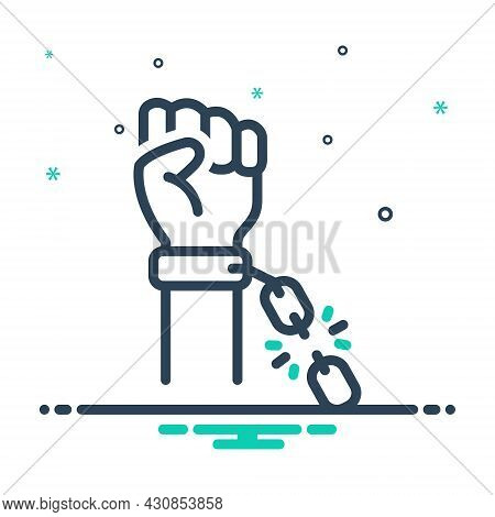 Mix Icon For Independence Liberty Liberties Self-sufficiency Self-reliance Aggressive Justice Protes
