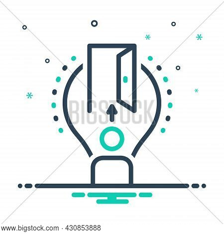 Mix Icon For Opportunity Eventuality Door Entrance Chance Lucky-chance Possibility Occasion