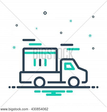 Mix Icon For Delivery Conveyance Carriage Transportation Transport Distribution Dispatch Remittance