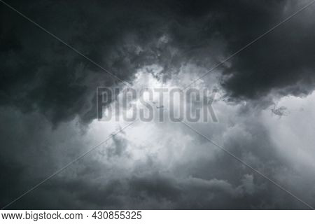 Turbulent Dark Stormy Clouds Angry And Menacing
