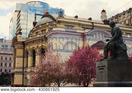 Kyiv, Ukraine-may 05,2021:scenic Landscape View Of Famous Kyiv National Opera (the Taras Shevchenko