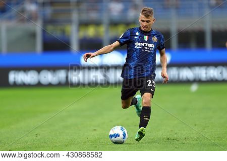 Milano, 21 August 2021. Nicolo Barella Of Fc Internazionale  In Action During The Serie A Match Betw