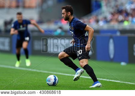 Milano, 21 August 2021. Hakan Calhanoglu Of Fc Internazionale  In Action During The Serie A Match Be