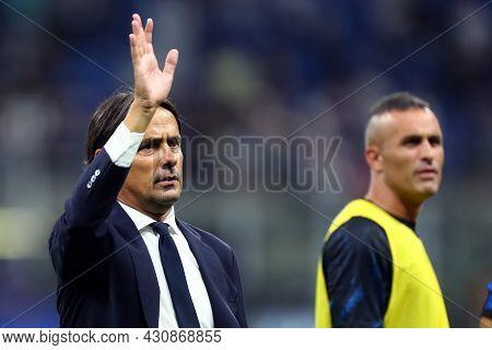 Milano, 21 August 2021. Simone Inzaghi, Head Coach Of Fc Internazionale  During The Serie A Match Be