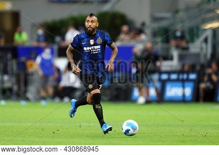 Milano, 21 August 2021. Arturo Vidal Of Fc Internazionale  In Action During The Serie A Match Betwee