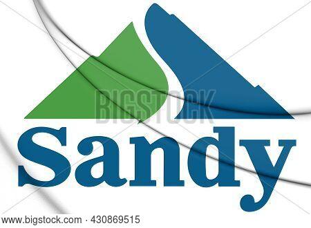 3d Emblem Of Sandy (utah State), Usa. 3d Illustration.