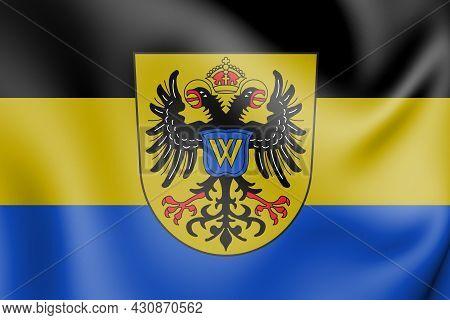 3d Flag Of Donauwoerth (bavaria), Germany. 3d Illustration.