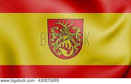 3d Flag Of Forst (lausitz), Brandenburg. Germany. 3d Illustration.
