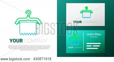 Line Hanger Wardrobe Icon Isolated On White Background. Clean Towel Sign. Cloakroom Icon. Clothes Se