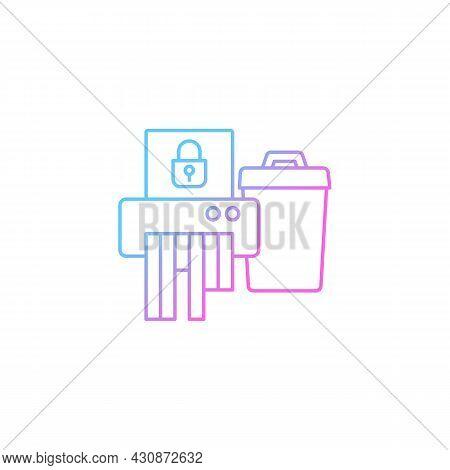 Sensitive Information Disposal Gradient Linear Vector Icon. Confidential Waste. Accidental Disclosur
