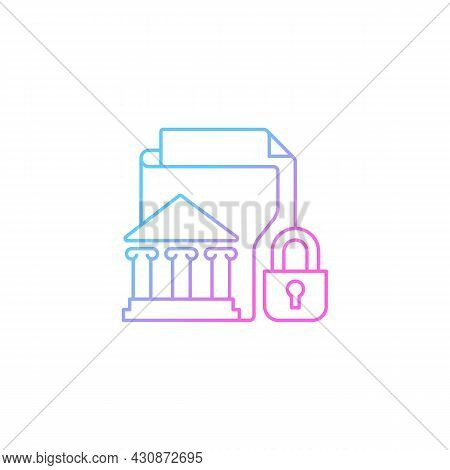 Classified Information Gradient Linear Vector Icon. National Security. Protecting Sensitive Data. To