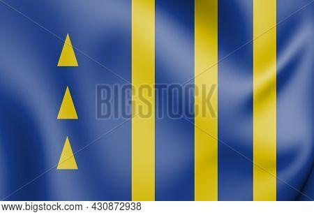 3d Flag Of Pedras De Fogo (paraiba), Brazil. 3d Illustration.