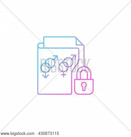 Sexual Orientation Information Gradient Linear Vector Icon. Protect Lgbtq Privacy. Safely Revealing