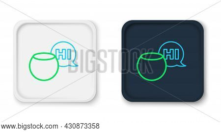 Line Voice Assistant Icon Isolated On White Background. Voice Control User Interface Smart Speaker.