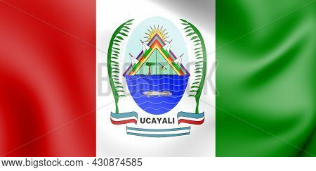 3d Flag Of Ucayali En Atlas, Peru. 3d Illustration.