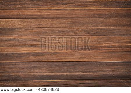 Old Wood Boards Texture, Top View. Brown Wood Texture. Wood Background