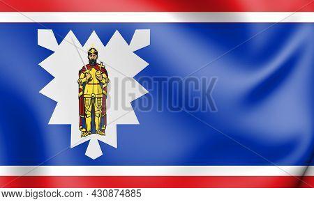 3d Flag Of Wedel (schleswig-holstein), Germany. 3d Illustration.