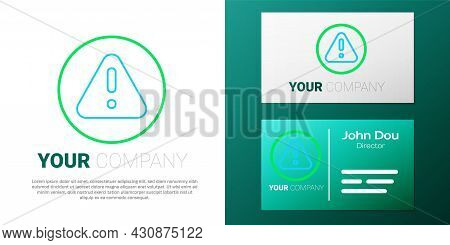 Line Exclamation Mark In Triangle Icon Isolated On White Background. Hazard Warning Sign, Careful, A